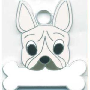 迷子札 フレンチブルドッグ(クリーム)  フレブル ドッグタグ  トップワン  【名入れ】  販売 犬鑑札 IDプレート  アクセサリー携帯ストラップ 刻印|topwan