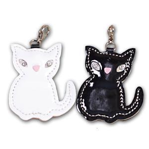 キューティーネコ(猫)チャーム  (キーホルダーチャームチェーン) バッグチャーム キーアクセサリー 携帯ストラップ カバン  トップワン|topwan