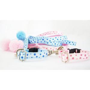 ボンボン(ポンポン)リード&パステルカラーセット! 可愛い水玉☆ お得!小型犬  トップワン チワワ 子犬 首輪 犬 ペット用品 通販|topwan