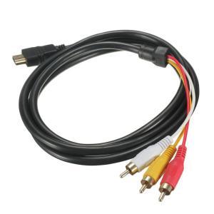 HDMI A/M TO 3RCA 変換ケーブル 金メッキ高品質 コンポーネント オス テレビ ビデオ端子 1.5m  送料無料