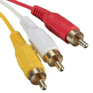 HDMI A/M TO 3RCA 変換ケーブル 金メッキ 高品質 コンポーネント オス テレビ ビデオ端子 1.5m【メール便】 topwood 02