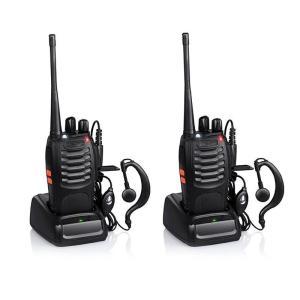新入荷 無線機 2台 トランシーバー アマチュア無線機 充電器付 変換アダプター イヤホンマイ付 アンテナ付 災害 地震 対策 BF-888S 送料無料代引不可