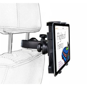 新入荷 送料無料 車載ヘッドレストホルダー 車載ホルダー 後部座席用 タブレットホルダー 360°回転 タブレット iPad iPhone カー用品 代引不可