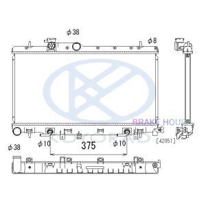 ラジエーター インプレッサ GH-GDB  M/T 45119FE020 KOYO PL092155 |tora-rd