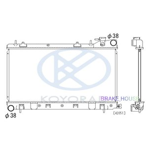 radiator フォレスター GF-SF5 MT 45111FC350 45199FC350 45111FA200 PL091163 tora-rd