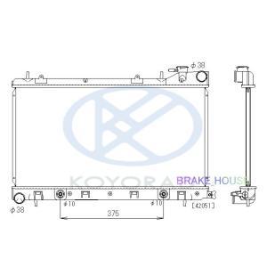 radiator フォレスター TA-SG5 AT 45111SA030 PL091604 tora-rd