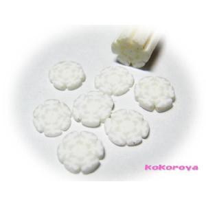 【♪ネイルサイズ♪】 1:雪の結晶スライス棒 1本 (4.5〜5.5mm)|tora-shop
