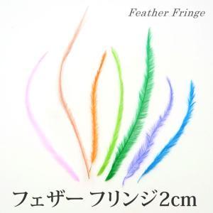 フェザー フリンジ 2cm 21-25|tora-shop