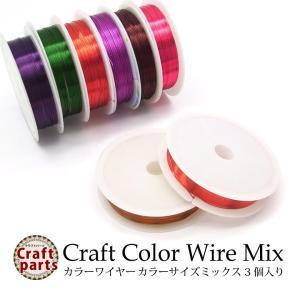 クラフト カラー ワイヤー カラーサイズ ミックス 1巻タイプ 3個入り|tora-shop