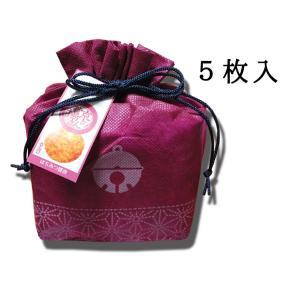 京のお揚げさん 巾着5枚入 えんじ 京寿楽庵|toraya-sweets