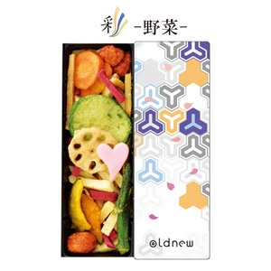 oldnew彩 野菜 1缶 ギフト 毘沙門亀甲柄 オールドニューいろどり 京寿楽庵|toraya-sweets