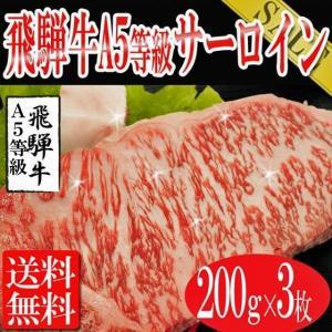 飛騨牛 ステーキ 焼き肉 bbq バーベキュー 牛肉 お肉 肉 サーロイン 送料無料 A5等級 サーロインステーキ 200g×3枚|toretate1ban