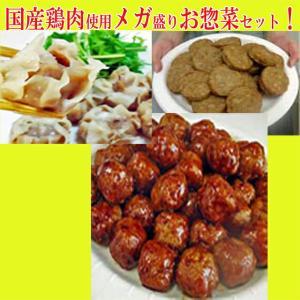 お中元 2021 タイムセール 鶏 鶏肉 国産鶏肉使用メガ盛りお惣菜 ハンバーグ 1kg ミートボール 500g×2P 鶏焼売 650g 合計2.6kg|toretate1ban
