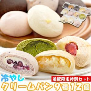 お中元 2021 タイムセール 冷やし クリームパン 9種 12個セット ひんやり美味しい新感覚スイーツ 通販限定セット 送料無料 toretate1ban