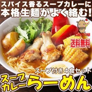 お中元 2021本格生麺使用 スパイス香る スープカレー ラーメン らーめん 4食 (90g×2食×2袋・スープ4袋)  送料無料 ゆうパケット|toretate1ban