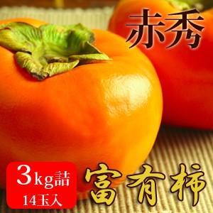 富有柿3kg詰(14玉入) 鳥取県産 赤秀 送料無料(北海道・沖縄を除く)|toretatehonpo