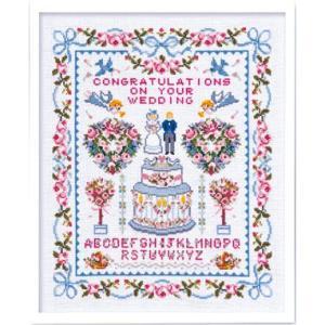 Olympusクロスステッチ刺繍キット7153「ハッピーウェディング」 ウェディング オリムパス クロス刺繍 ウェルカムボード|torii