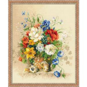 RIOLISクロスステッチ刺繍キット No.100/042 「Flemish Summer」 (フランダースの夏) 【海外取り寄せ/納期30〜60日程度】|torii