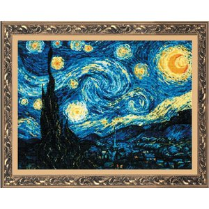 RIOLISクロスステッチ刺繍キット No.1088 「The Starry Night」 after Vincent van Gogh's Painting (星月夜 フィンセント・ファン・ゴッホ)|torii