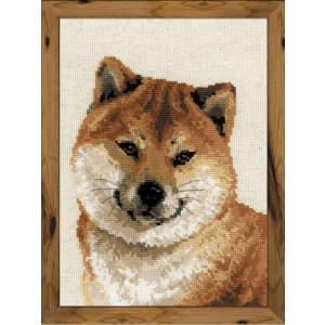 RIOLISクロスステッチ刺繍キット No.1280 「Shiba Inu」 (柴犬) 2018年 (平成30年) 戌年|torii
