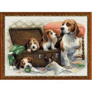 RIOLISクロスステッチ刺繍キット No.1328 「Canine Family」 (犬の家族 イヌ)|torii