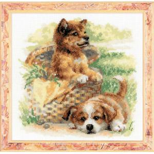 RIOLISクロスステッチ刺繍キット No.1390 「Tender Age」 (犬)|torii
