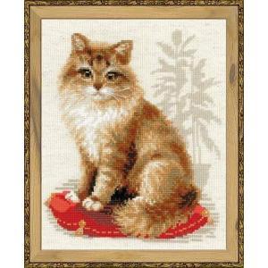 RIOLISクロスステッチ刺繍キット No.1525 「Pet Cat」 (飼い猫 ペット キャット)|torii