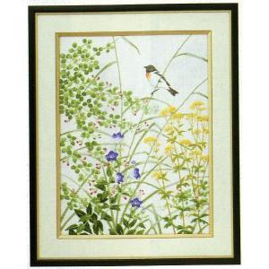 東京文化刺繍キット No.86  「秋草と小鳥」 【3号】 【動物】 【花・植物】 【花鳥】 コスモス|torii