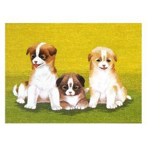 東京文化刺繍キット No.105 「三匹の仔犬」 【3号】 【動物】 子犬|torii