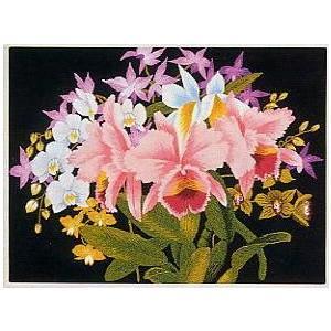 東京文化刺繍キット No.151 「らんの花」 【3号】 【花・植物】 蘭|torii
