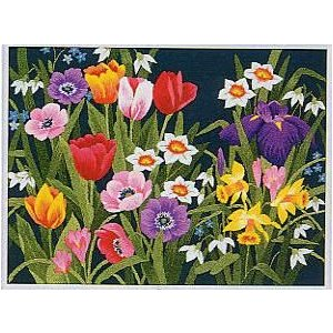東京文化刺繍キット No.152 「花畑」 【3号】 【花・植物】|torii