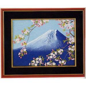 東京文化刺繍キット No.180 「富士と桜」 【3号】 【風景】 【花・植物】|torii