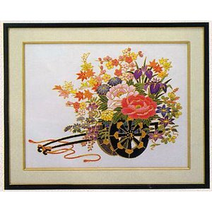 東京文化刺繍キット No.469 「金線花車」 【4号】 【花・植物】|torii
