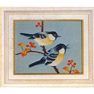 東京文化刺繍キット No.783 「小鳥」 【1号】 【額付き】 【花・植物】 【動物】 【花鳥】  フジ 藤|torii
