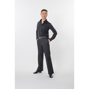 TD6001 ストレッチ デニム ボール ルーム パンツ 東京トリキン メンズ 社交ダンス ダンス衣装|torikin21