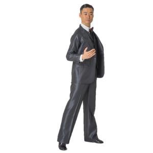 80007 ブルーストライプ ジャケット 東京トリキン メンズ 社交ダンス ダンス衣装 送料無料|torikin21
