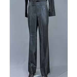 T1901 ブルーストライプ ツータック パンツ 東京トリキン メンズ 社交ダンス ダンス衣装|torikin21
