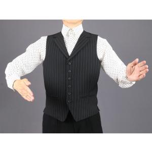 K25012 ピン8 ショートベスト 東京トリキン メンズ 社交ダンス ダンス衣装|torikin21