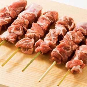 国産 豚コメカミ(かしら)串 40g×50本 バーベキュー BBQに最適 豚肉