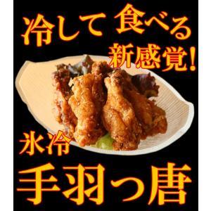 <内容>努努鶏(ゆめゆめどり)ではありません。【送料無料】氷冷手羽っ唐揚げ(1パック500g)×2パ...