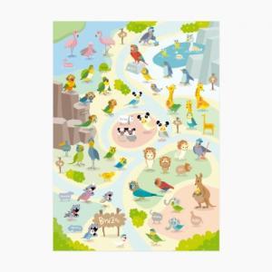 【Birdstory】BirdZoo クリアファイルA4 動物園|torimura