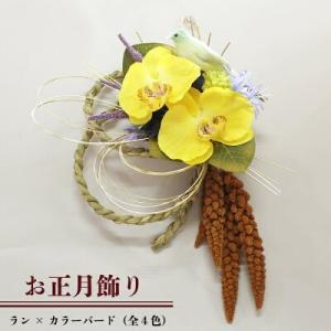 【お正月飾り】ラン×カラーバード|torimura