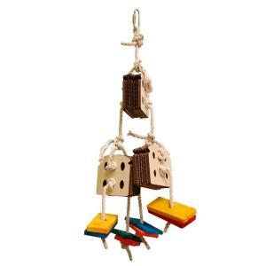CAP! 鳥のおもちゃ フォージングトーイ Zoo-Max 3アーモンドブレッド ※ナッツ無し※ 663|torimura