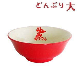 CAP! 小笠原製粉 キリマルラーメンどんぶり 赤(大)|torimura
