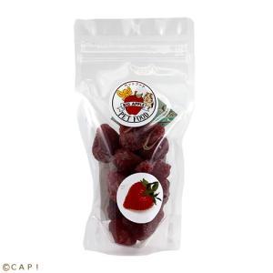 賞味期限:2020/7/25【ビッグアップル】手からあげられるおやつ半生イチゴ 115g torimura