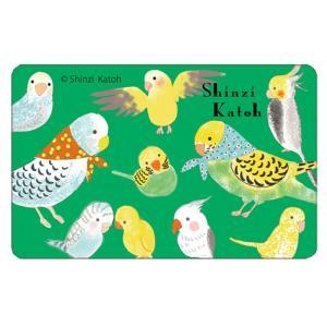 【ShinziKatoh】 ICカードシール(1枚入り)   鳥1|torimura