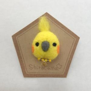 CAP! 鳥のブローチ Shiratama ピンバッチオカメインコ B|torimura