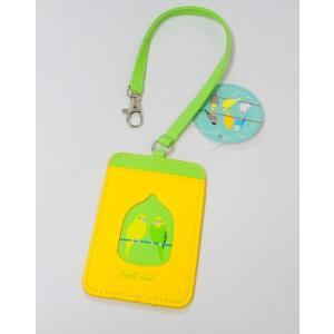 【トーシンパック】パスケース セキセイインコ緑 ※カード※|torimura