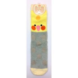 【トーシンパック】もこもこルームソックス オカメグレー|torimura