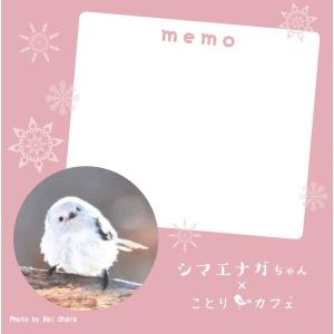【小原 玲×ことりカフェ】シマエナガちゃん メモ帳|torimura